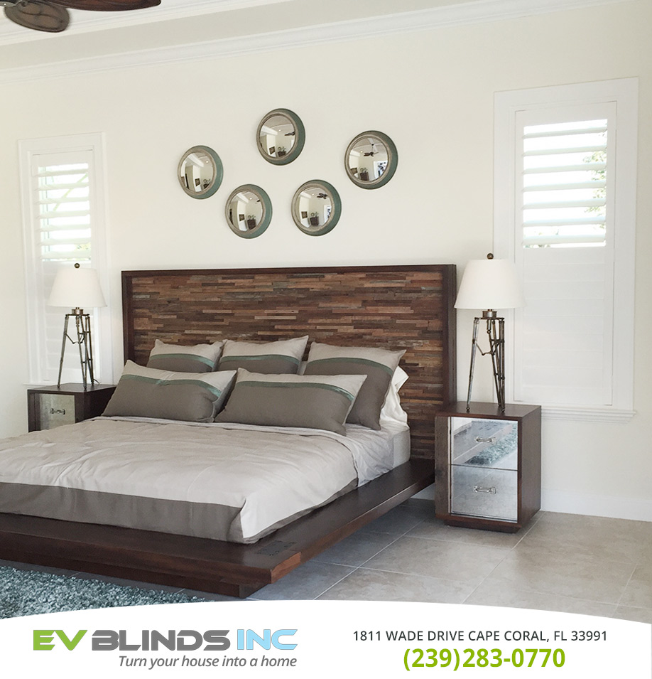 Bedroom Blinds in and near Cape Coral Florida