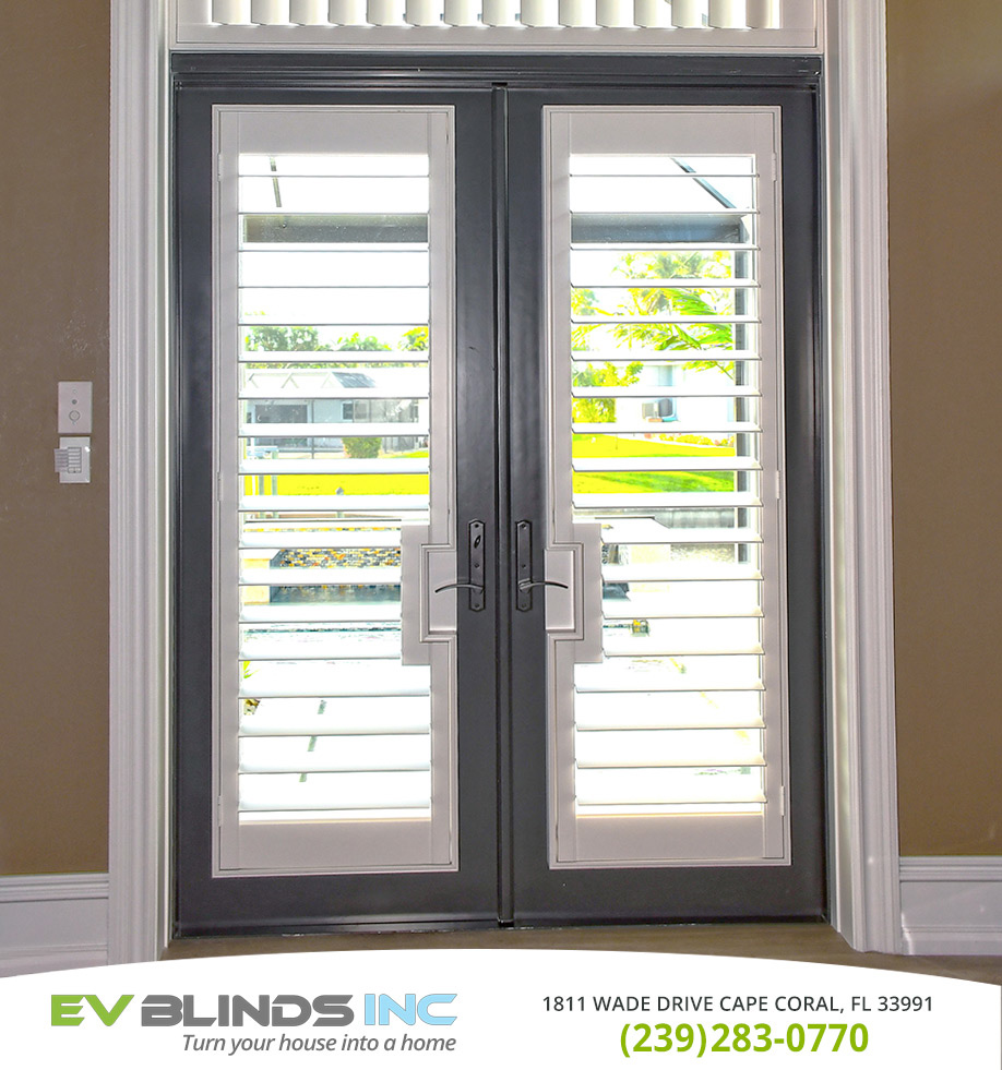 Blinds for French Doors in and near Cape Coral Florida