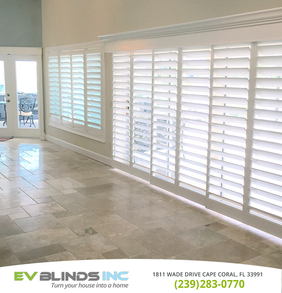 Sliding Door Blinds in and near Cape Coral Florida