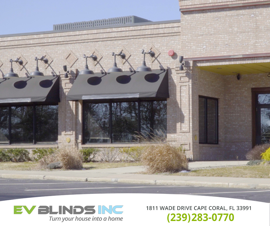 Storefront Blinds in and near Cape Coral Florida