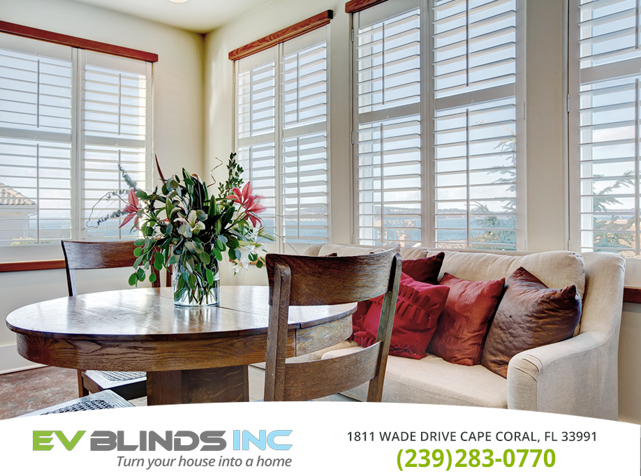 White Wooden Blinds in and near Cape Coral Florida